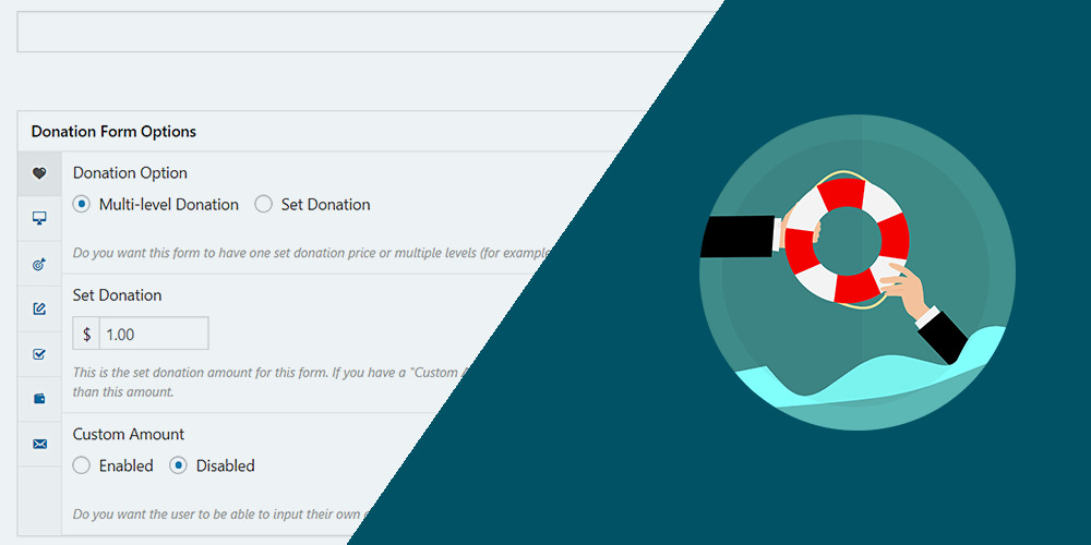 give wp allow users to create donation forms on the frontend