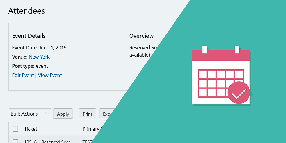 the events calendar manage attendees and tickets on the frontend