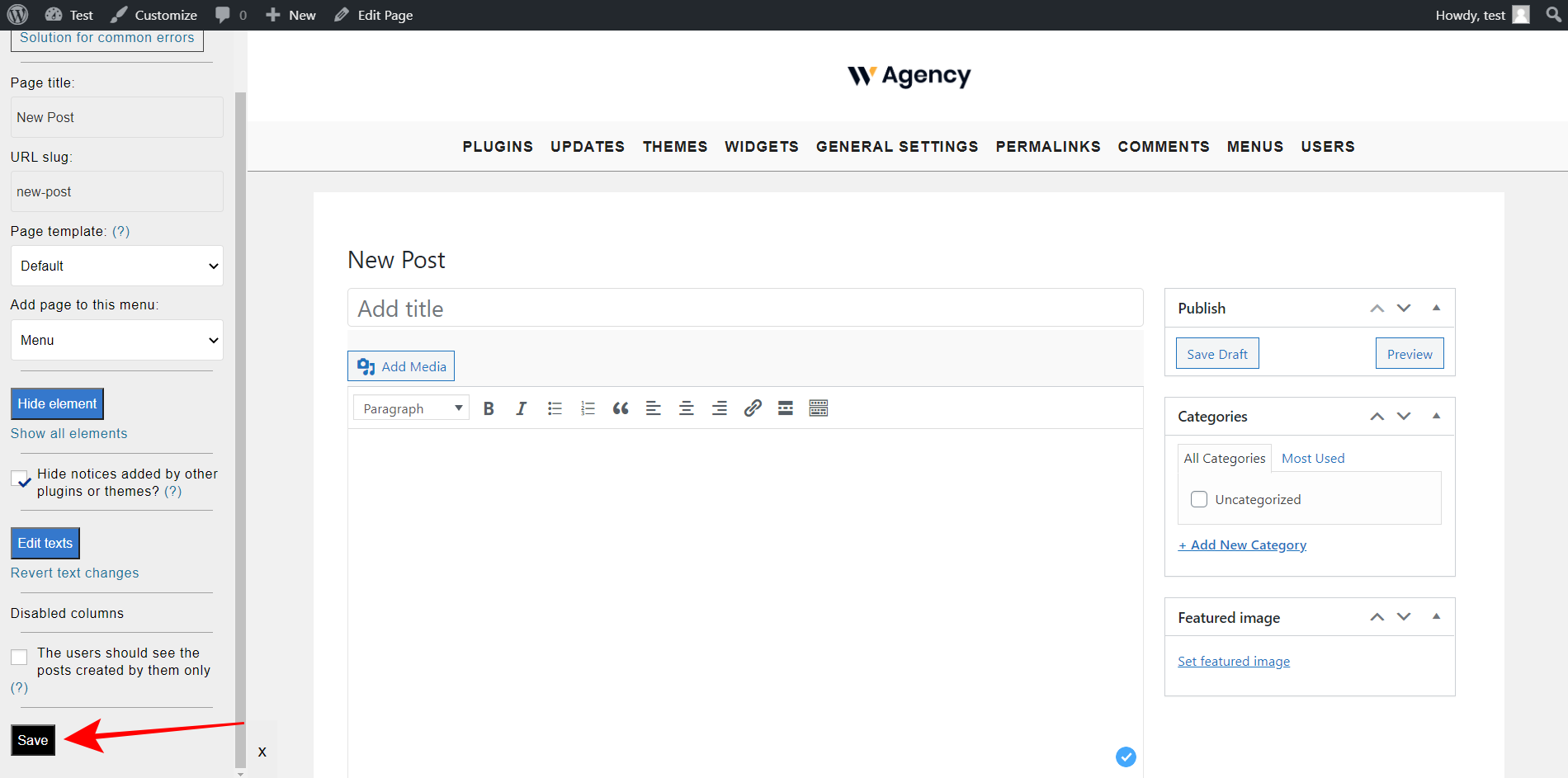 wordpress frontend post submissions
