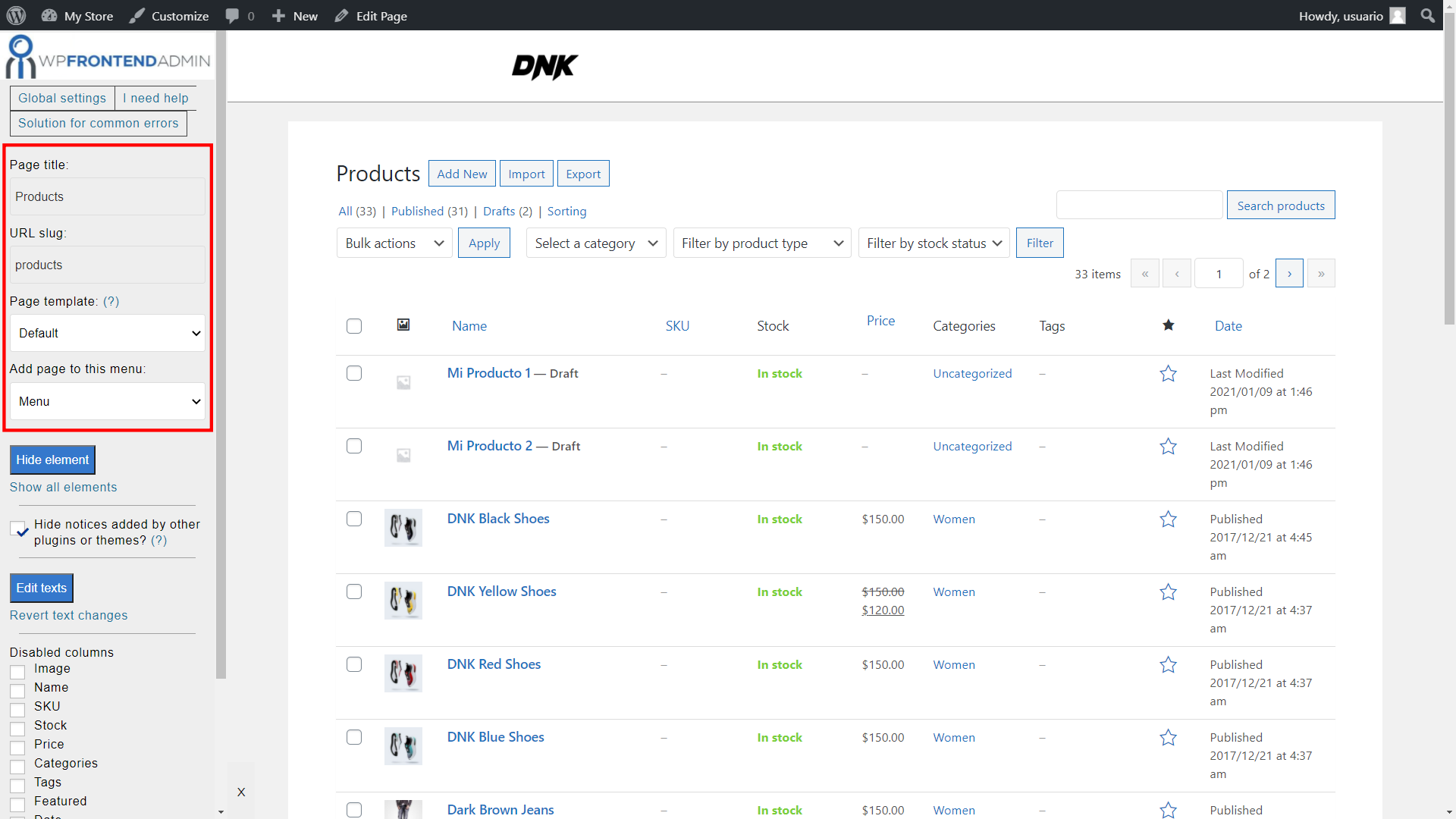woocommerce frontend dashboard