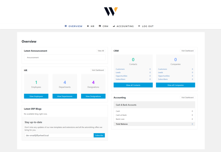 WP ERP – How to Show the Dashboard on the Frontend