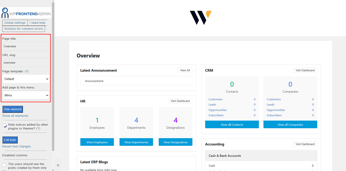 wp erp frontend