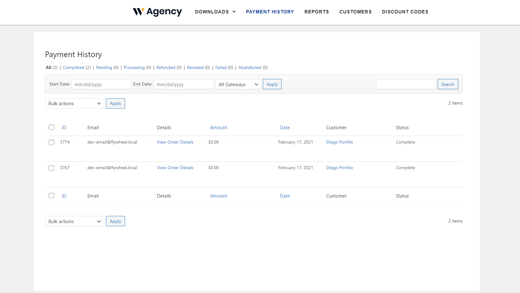 edd payment history frontend
