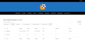 frontend dashboard sportspress for football