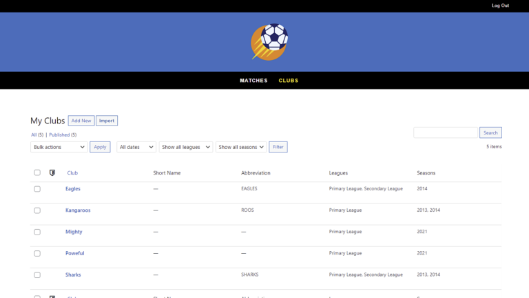 SportsPress for Football – How to Manage Clubs on the Frontend