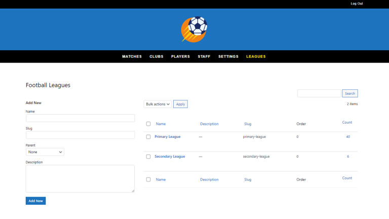 SportsPress for Football – Create and Manage Leagues on the Frontend
