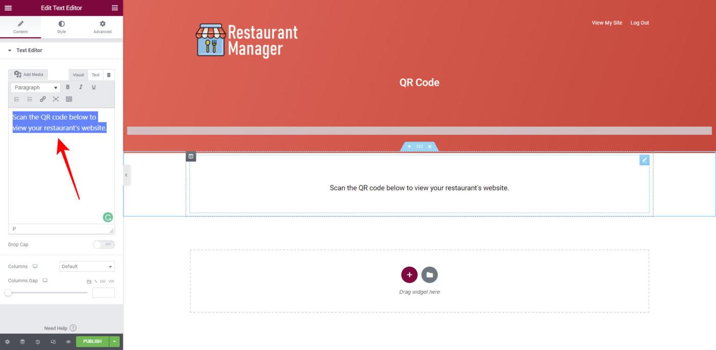 wordpress qr code dashboard