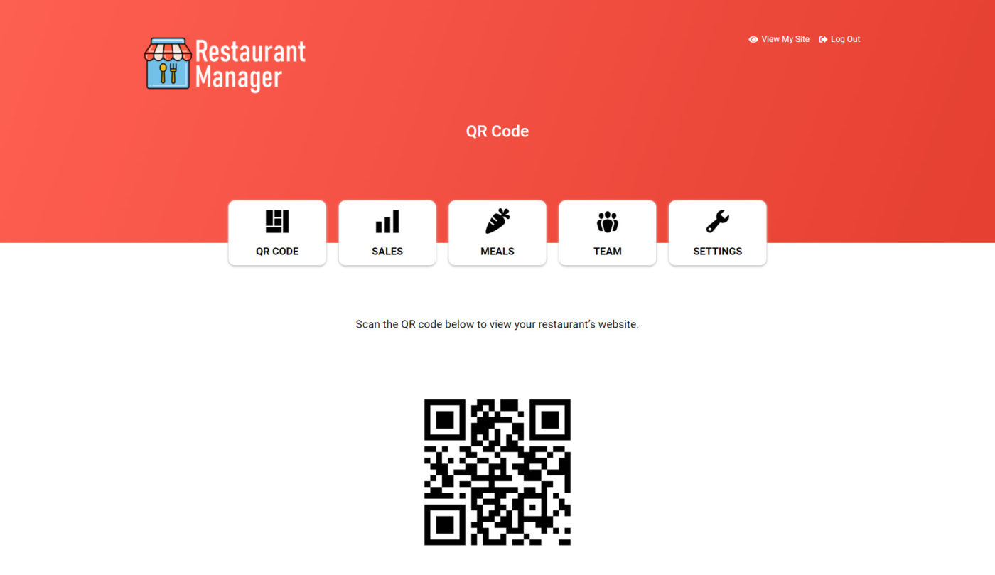 qr code page