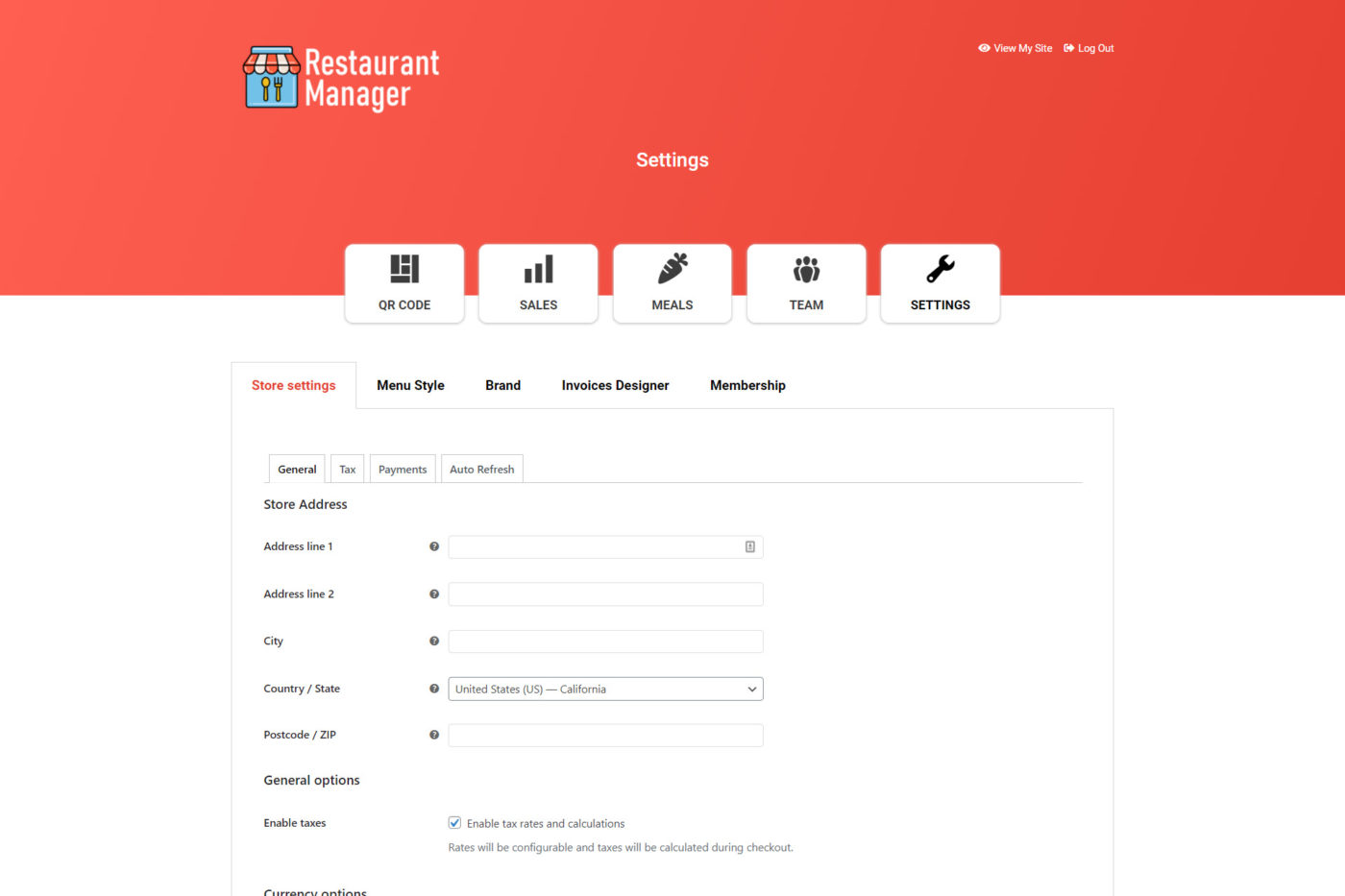 frontend settings 1
