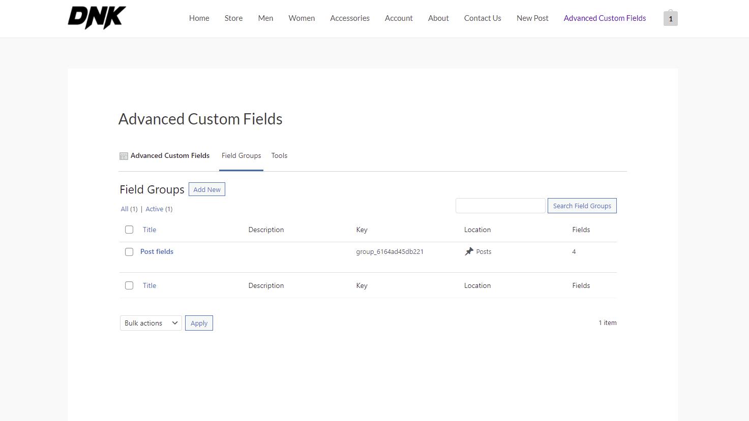 advanced custom fields on the frontend